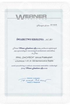 Werner Janikowo Sp. z o.o. - szkolenie ze stosowania materiałów i technologii
